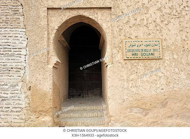 former royal granaries Moulay Ismail, Meknes, Morocco, North Africa