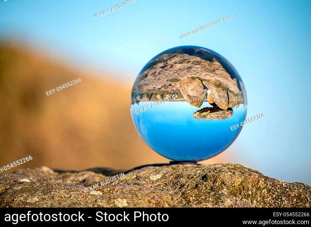Artistic glass ball photography at the Harhoog megalithic tomb
