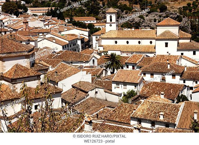 Roofs. Town of Grazalema, Natural Park of Sierra de Grazalema. Ruta de los Pueblos Blancos. Cádiz. Andalucia. Spain