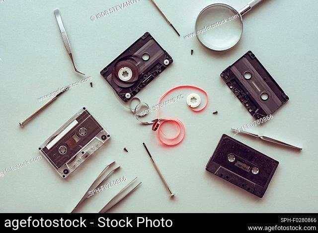 Audio cassette parts