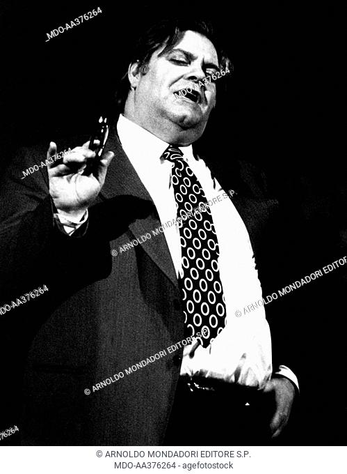 Tino Buazzelli in Sei personaggi in cerca d'autore. The Italian actor Tino Buazzelli playing the role of the father in the theatrical play Sei personaggi in...