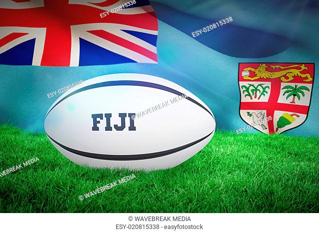 Composite image of fiji rugby ball