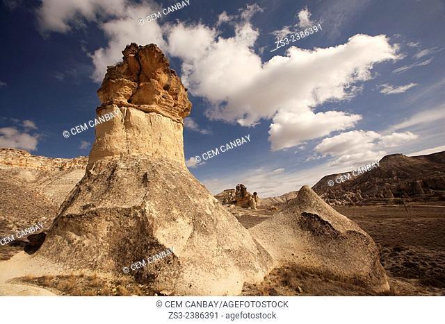 Rock formations in Devrent Valley, Zelve, Cappadocia Region, Nevsehir, Central Anatolia,Turkey, Europe