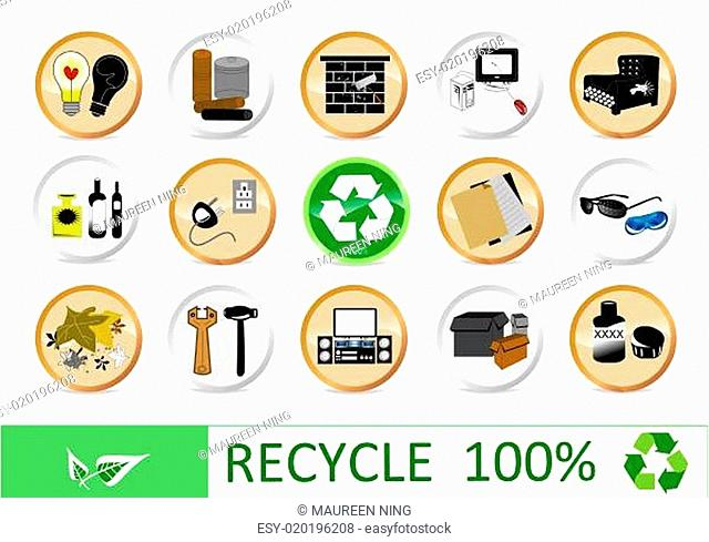Recycling eco icons for your web page
