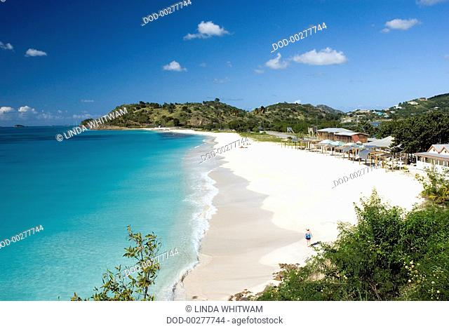 Caribbean, Leeward Islands, Antigua, view of Darkwood beach