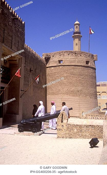 UAE - Al Fahidi Fort, Thought to be the oldest building in Dubai now houses the Dubai Museum