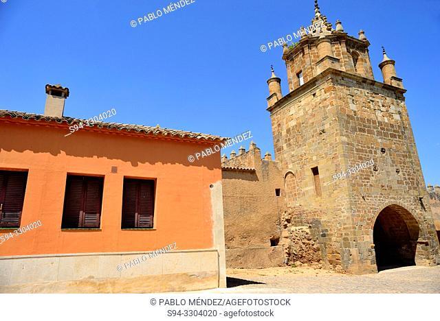 Entrance to Veruela monastery, Vera del Moncayo, Zaragoza, Spain