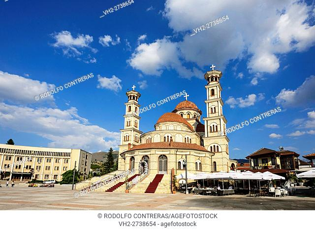 Orthodox cathedral in Korce, Albania