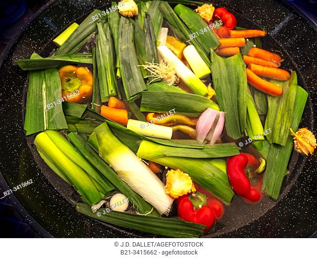 France, food, cooking vegetable soup