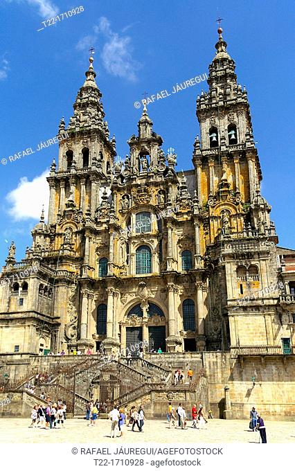 Santiago de Compostela Spain  Cathedral of Santiago de Compostela and the Plaza del Obradoiro