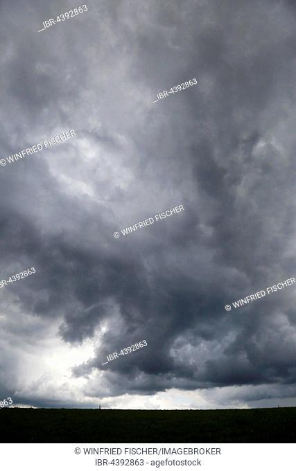 Storm clouds in Beuerberg, Upper Bavaria, Germany