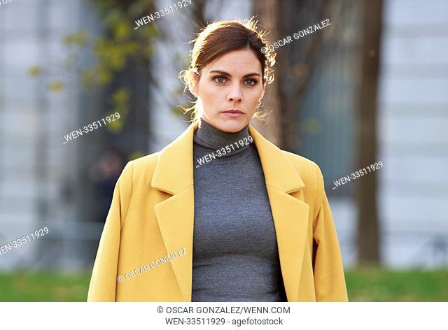 Actress Amaia Salamanca attends the 'Que te juegas' film set at Paseo de Recoletos Featuring: Amaia Salamanca Where: Madrid, Madrid<>Madrid