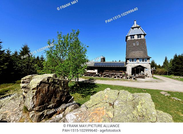 The Hanskühnenburg is a mountain hut (German: Bergbaude) in the Harz mountains. It is located at a height of 811m (2, 661ft) above sea level