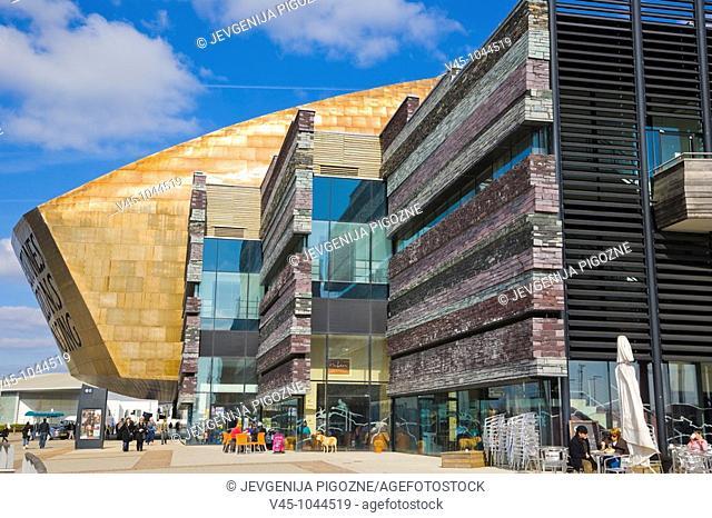 Wales Millennium Centre. Canolfan Mileniwm Cymru. Home of Welsh National Opera. WNO. Cardiff Bay. Cardiff. Caerdydd. Wales. UK