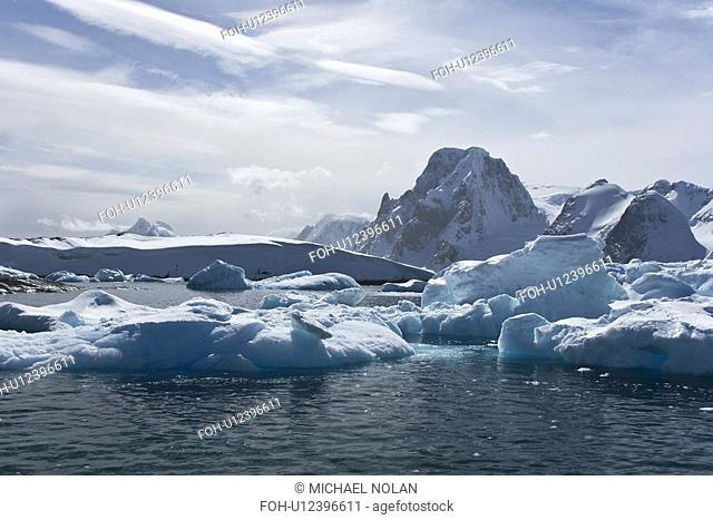 Huge icebergs near Petermann Island on the west side of the Antarctic Peninsula