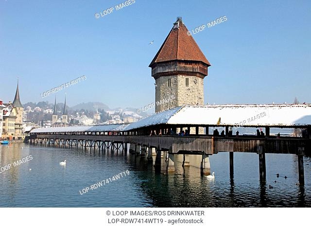 Covered Chapel Bridge in Lucerne