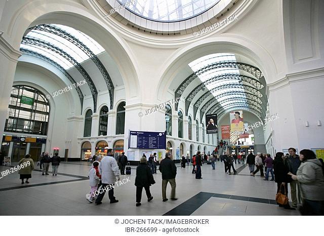 The renovated main station, Dresden, Saxony, Germany
