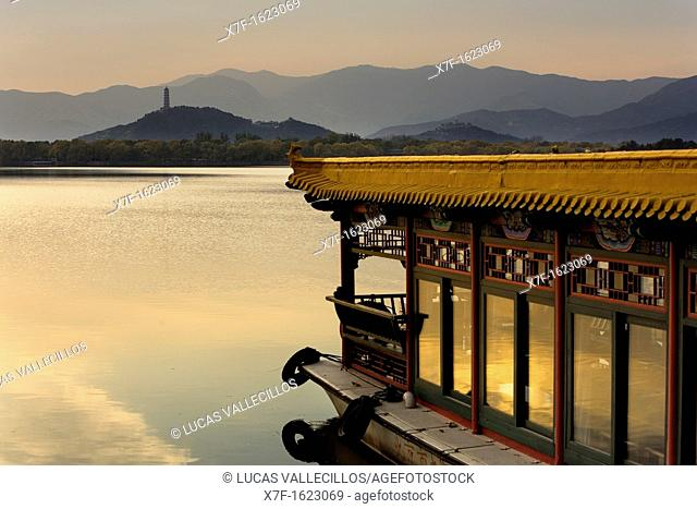 Summer Palace, in Kunming Lake  Boat,Beijing, China