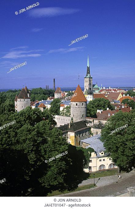 Old Town from Toompea, Tallinn, Estonia