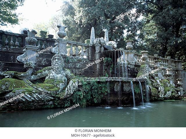 Bagnaia, Villa Lante, Gartenanlage