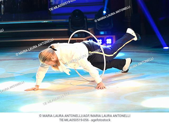 Lasse Matberg during the performance at the tv show Ballando con le stelle (Dancing with the stars) Rome, ITALY-04-05-2019