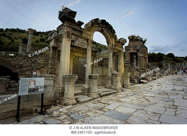 Temple of Hadrian, ancient city of Ephesus, Efes, Izmir province, Turkey, Asia