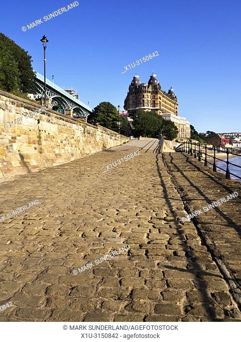 The Grand Hotel in morning sunlight Scarborough North Yorkshire England