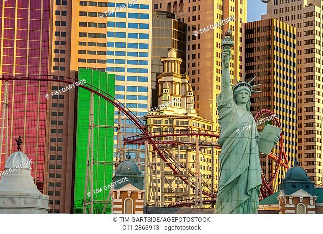 new york, new york, hotel, las vegas, nevada, usa