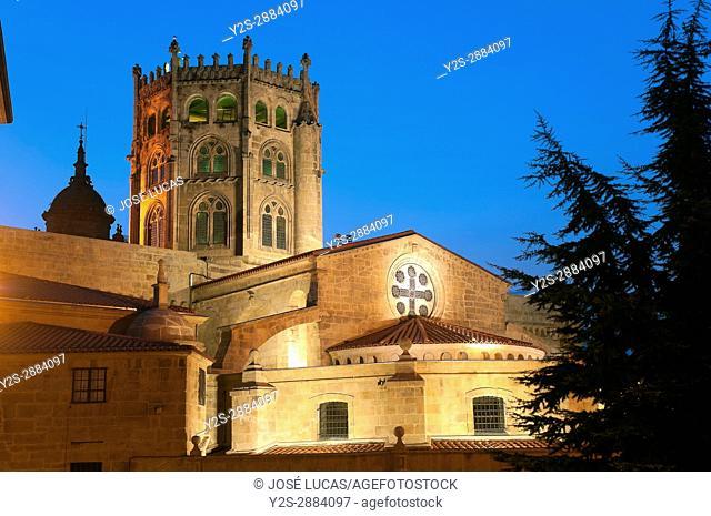 Gothic Cathedral of San Martin de Tours - 12th century, Orense, Region of Galicia, Spain, Europe