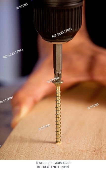 cordless screwdriver DIY home improvement close up