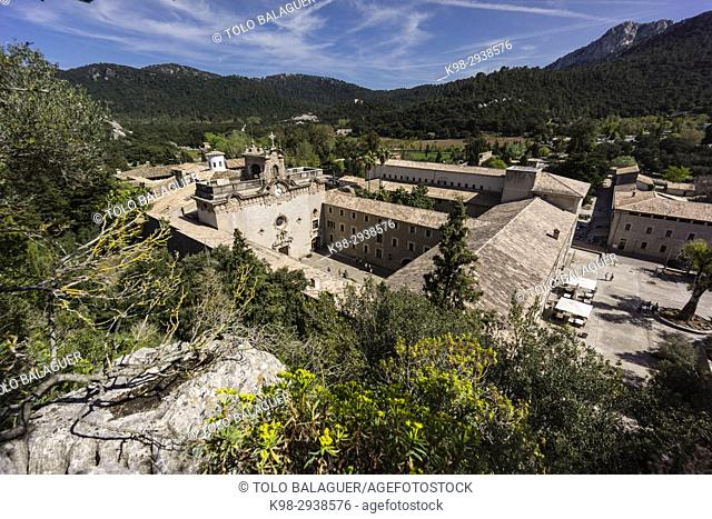 Santuario de LLuc, siglo XVII, Escorca, Sierra de Tramuntana, Mallorca, Balearic Islands, Spain