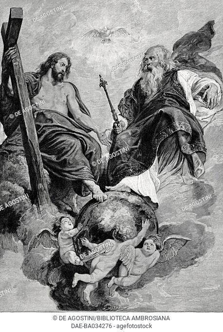 The Ascension, painting by Pieter Paul Rubens, from L'Illustrazione Italiana, Year XXIII, No 19, May 10, 1896
