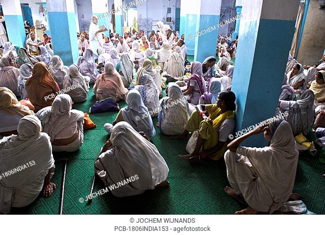 India, Vrindavan, the Sri Bagwan Bhajan Ashram for Widows