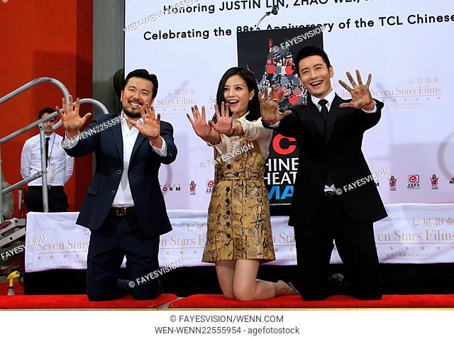 Hand Print/Birthday Bash Ceremony at the TCL Chinese Theatre IMAX Featuring: Justin Lin, Zhao Wei, Huang Xiaoming Where: Hollywood, California