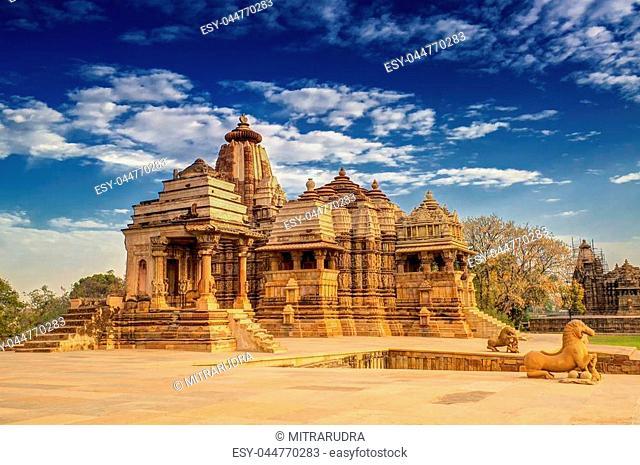 Devi Jagdambi Temple, dedicated to Parvati, Western Temples of Khajuraho, Madhya Pradesh, India. it's an UNESCO world heritage site - popular amongst tourists...