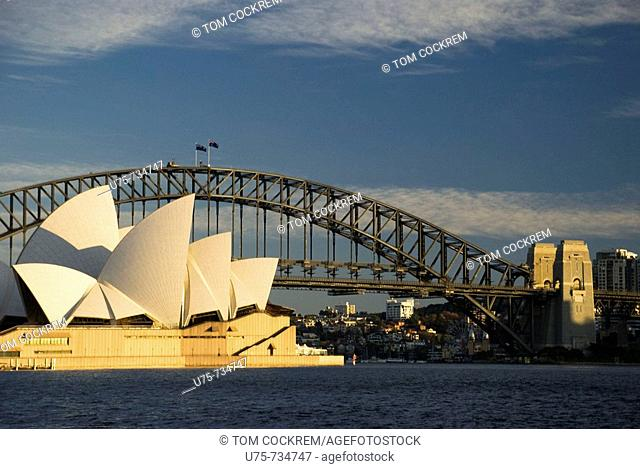 Sydney Harbour Bridge and Opera House, Sydney, Australia