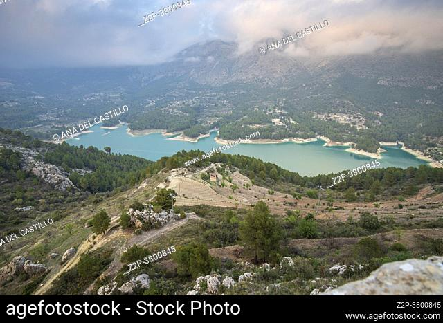 Castell de Guadalest Alicante Spain on March 10, 2021: The ancient fortress has a privileged location, perched on the cliffs