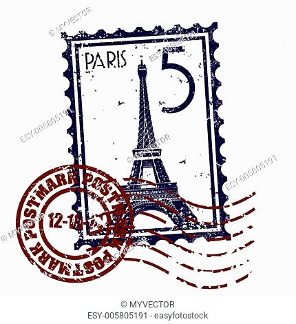 Vector illustration of single Paris icon