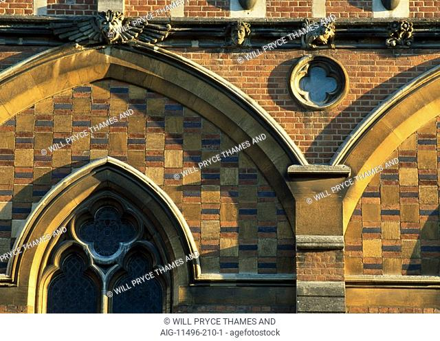 The Chapel, Keble College, Oxford University, Oxford, 1867 - 1883. Architect: William Butterfield. Engineer: Thomas Brassey - Builder
