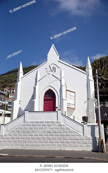 South Africa, Cape Town, View of local church; Kalk Bay