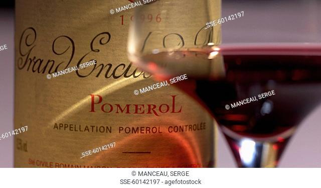 Bottle of Pomerol 1996