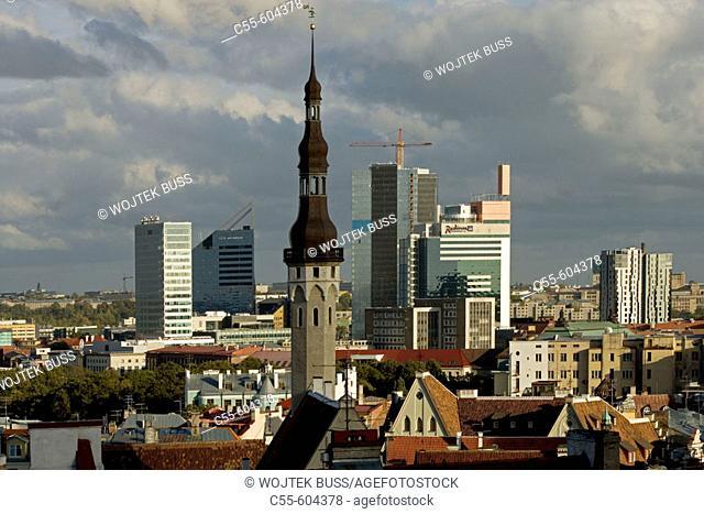 Town Hall Tower, from Toompea. Tallinn. Estonia