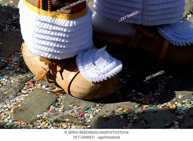 Clogs for the Binche Festival. The carnival of Binche is an event that takes place each year in the Belgian town of Binche during the Sunday, Monday