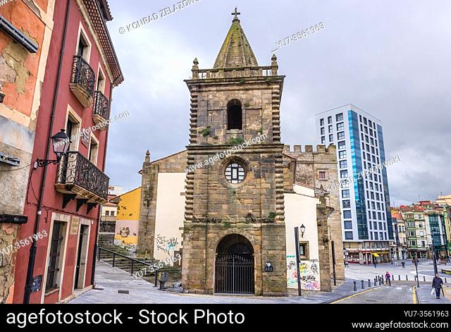 Adjacent chapel of Revillagigedo Palace in Gijon in the autonomous community of Asturias in Spain
