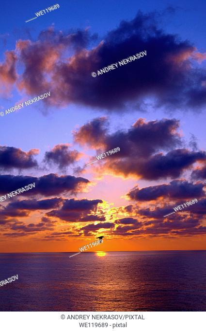 Sunset, Zmiinyi Island, Snake Island, Black Sea, Odessa, Ukraine, Eastern Europe