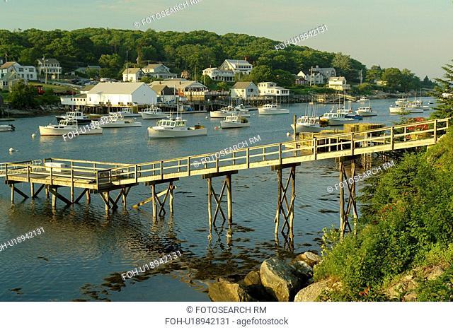 New Harbor, ME, Maine, Pemaquid, fishing harbor