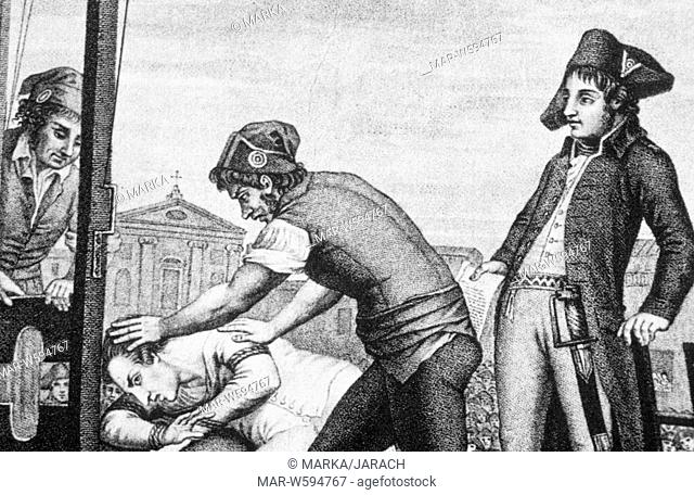 the execution of robespierre, French Revolution