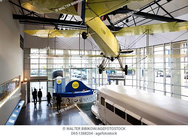 France, Puy-de-Dome Department, Auvergne Region, Clermont-Ferrand, L'Aventure Michelin museum, museum entrance