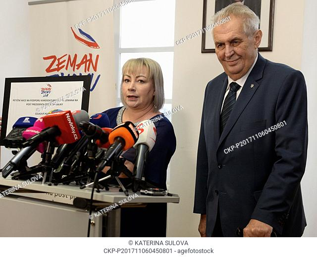 President Milos Zeman collected 113,038 signatures on his petition, enough to to seek re-election in 2018, while 50,000 are needed