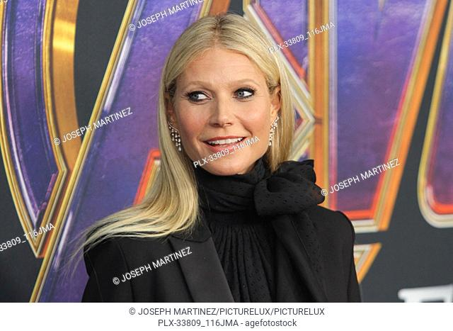 """Gwyneth Paltrow at The World Premiere of Marvel Studios' """"""""Avengers: Endgame"""""""" held at the Los Angeles Convention Center, Los Angeles, CA, April 22, 2019"""